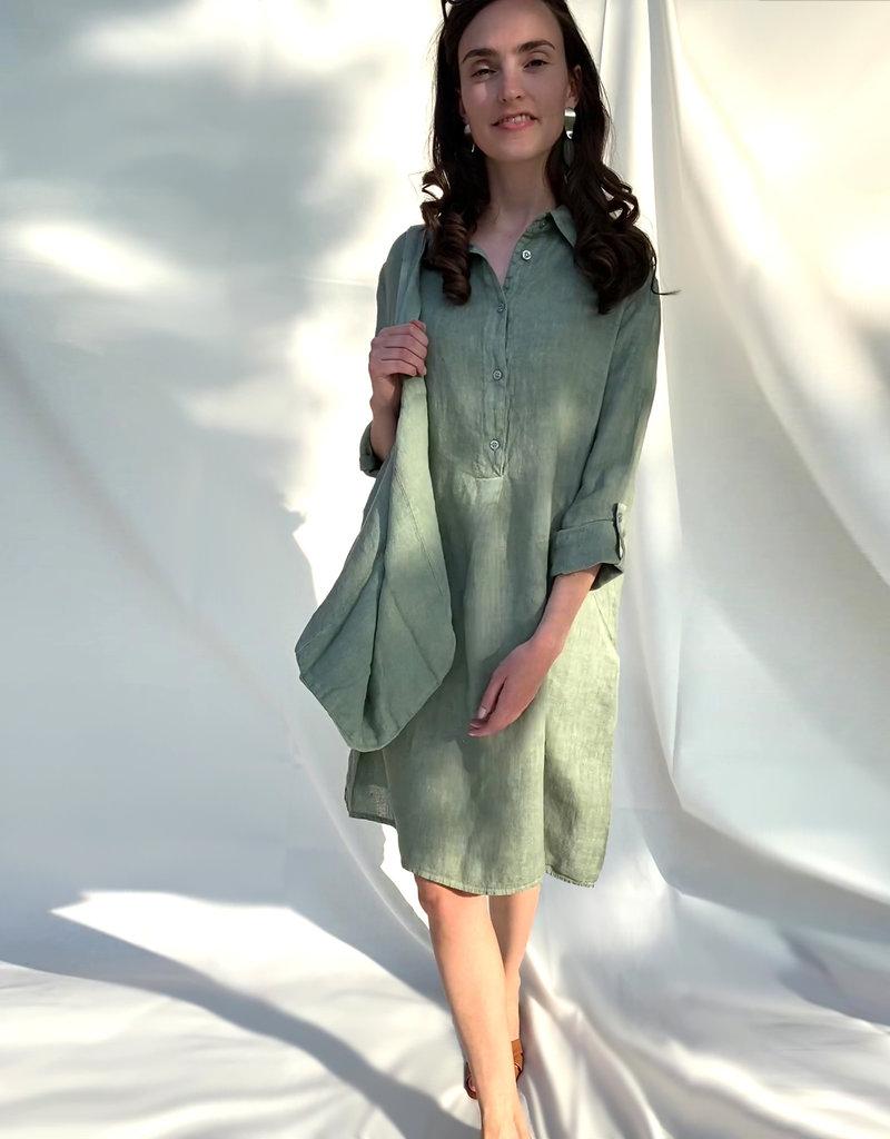 Nukus Darling Dress Linnen Salvia