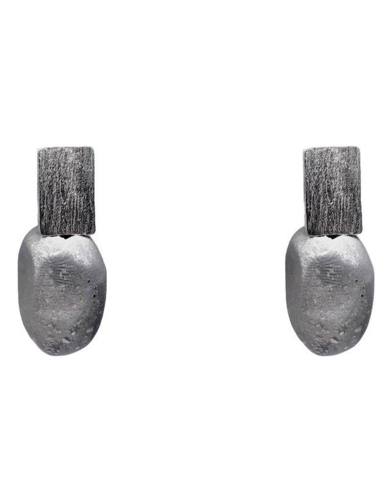 Marilia Capisani Basic Rolled Stone Earring - Silver