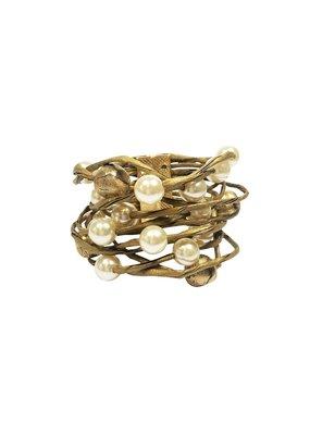 Marilia Capisani Pearls and Paper Maxi Bracelet