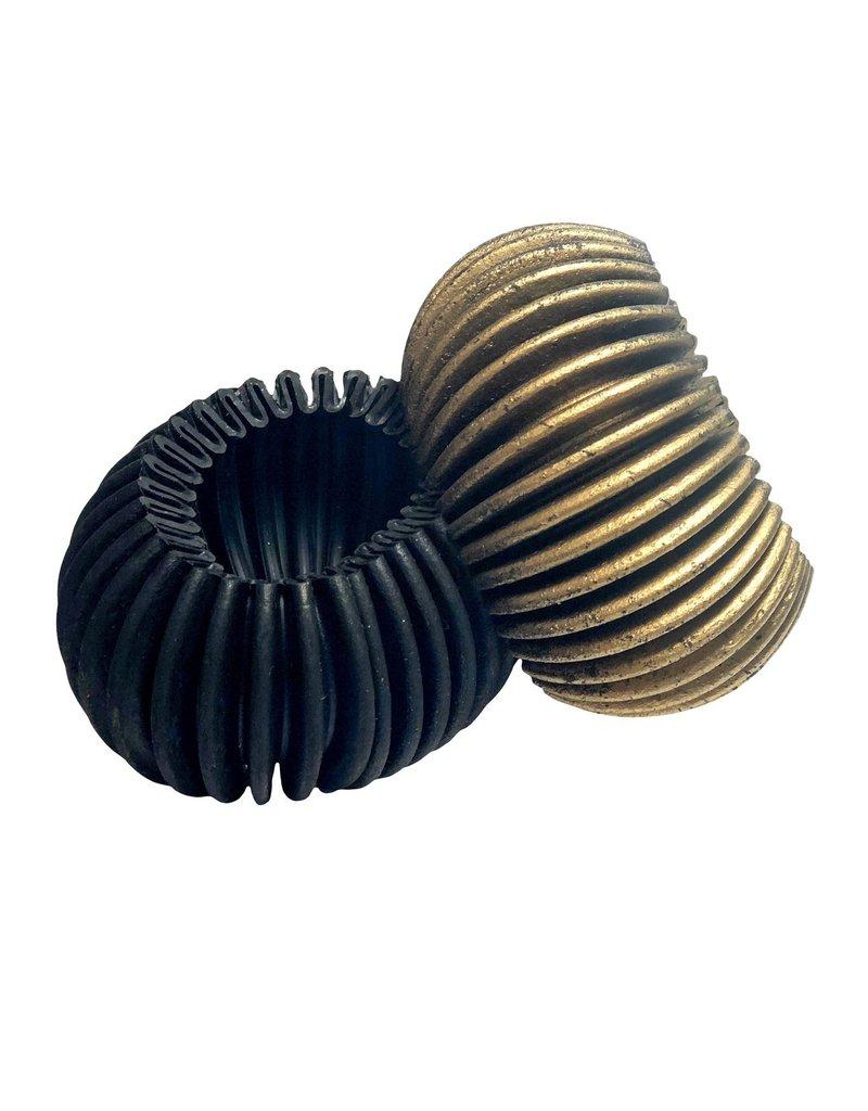 Marilia Capisani Armband breed rubber zwart