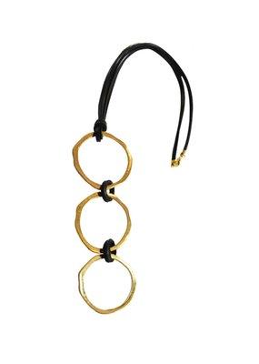 Marilia Capisani Three Circles Long Necklace - Gold