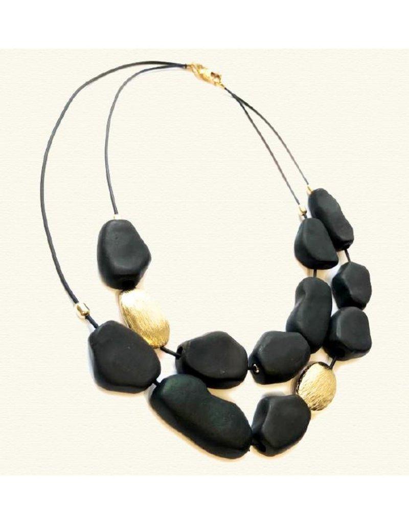 Marilia Capisani Cold Ceramic Maxi Short Necklace- Gold