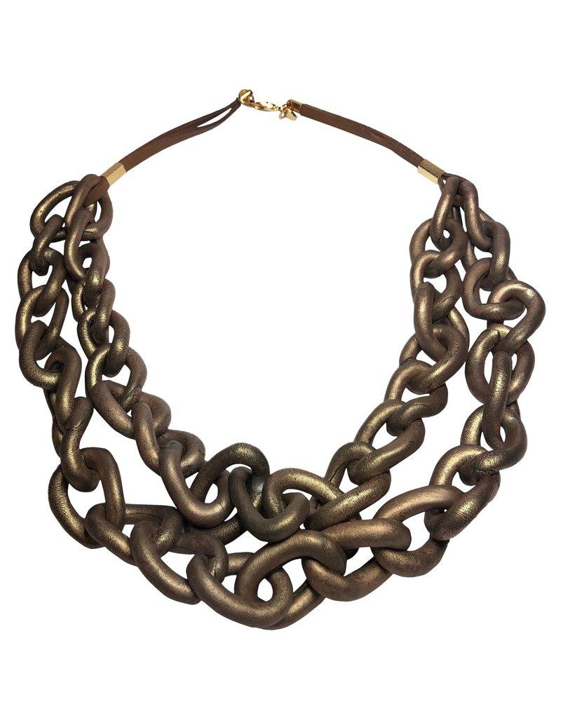 Marilia Capisani Cold Ceramic Chain Short Necklace - Copper