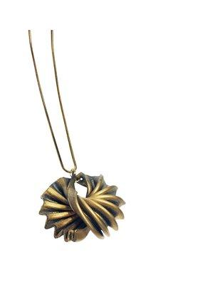 Marilia Capisani Halsketting medium met hanger rubber goud