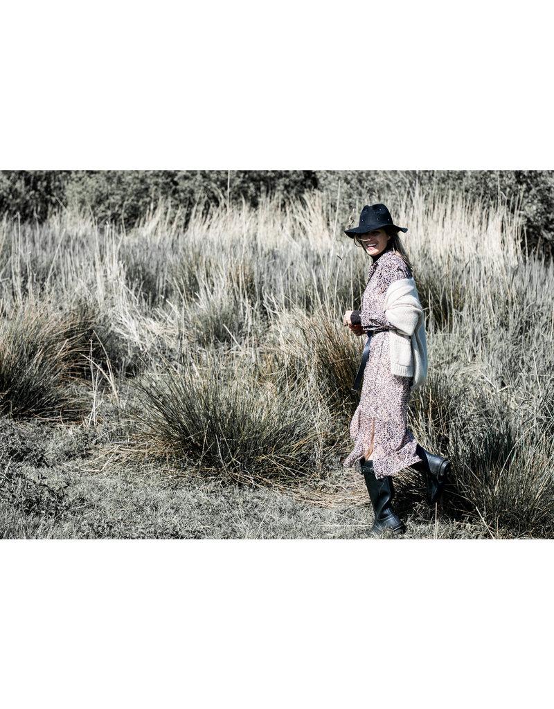 Nukus Claudy Print Dress Brown