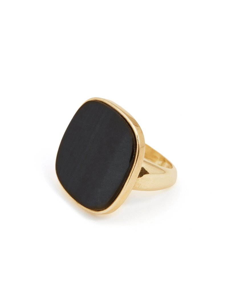 Wouters & Hendrix STATEMENT RING WITH BLUE TIGER EYE