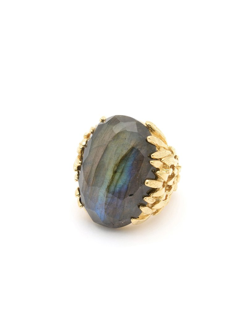 Wouters & Hendrix STATEMENT RING WITH LABRADORITE
