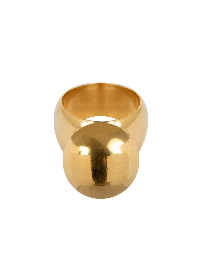 Wouters & Hendrix STATEMENT RING WITH BALL ELEMENT GOLD