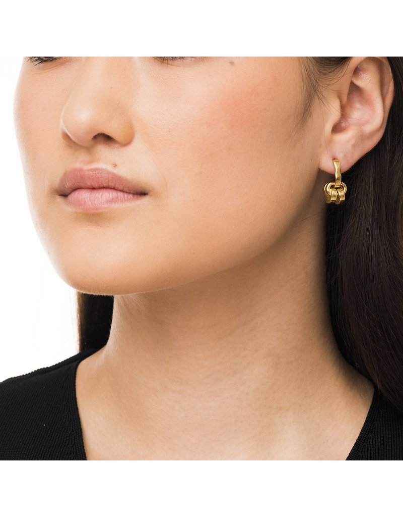 Wouters & Hendrix STUD EARRINGS WITH SERIES OF CHAIN ELEMENTS SILVER