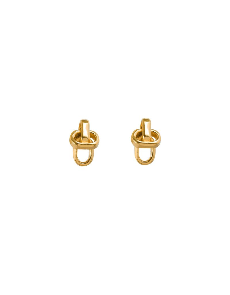 Wouters & Hendrix Copy of SUBTLE STUD EARRINGS WITH CHAIN ELEMENTS SILVER