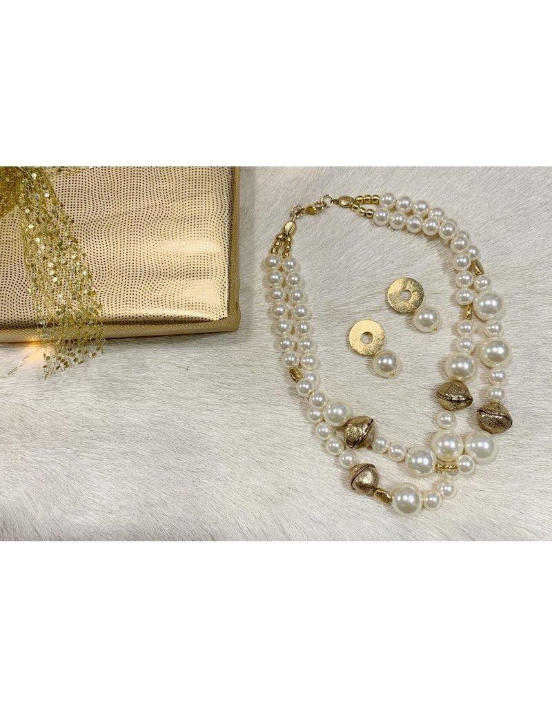 Kerstpakketje het halsketting en bijpassende oorbellen