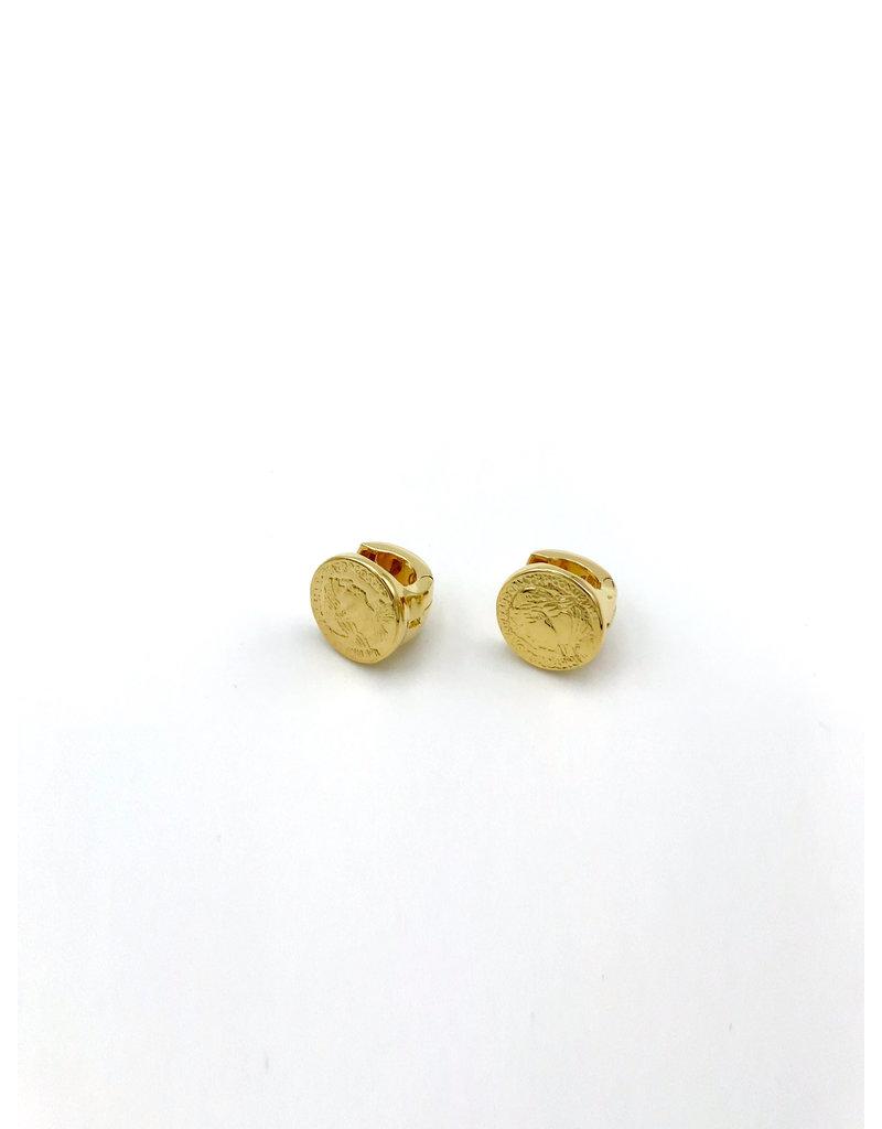 Heide Heinzendorff Creoles Coco silver gold plated