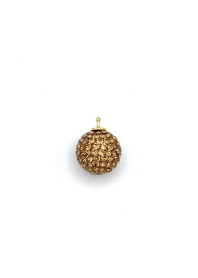 Heide Heinzendorff Changeable hanger cyrstal ball gold/brown