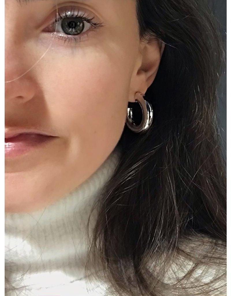 Heide Heinzendorff Zilveren halve hoepel oorbellen