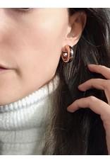 Heide Heinzendorff Rose gold plated silver small hoop earrings