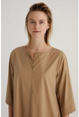 Zenggi Cotton Mix Easy Tunic Dress Bronze