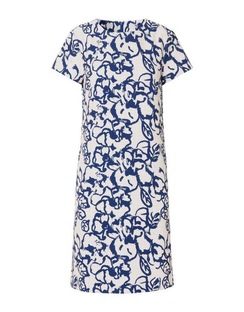 Travel Dress DOUBLE PRINT DRESS OCEAN BLUE