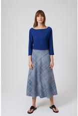 Travel Dress DOUBLE PRINT SKIRT OCEAN BLUE