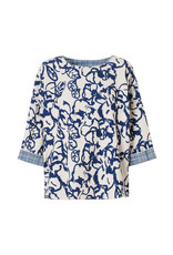 Travel Dress DOUBLE PRINT TOP OCEAN BLUE
