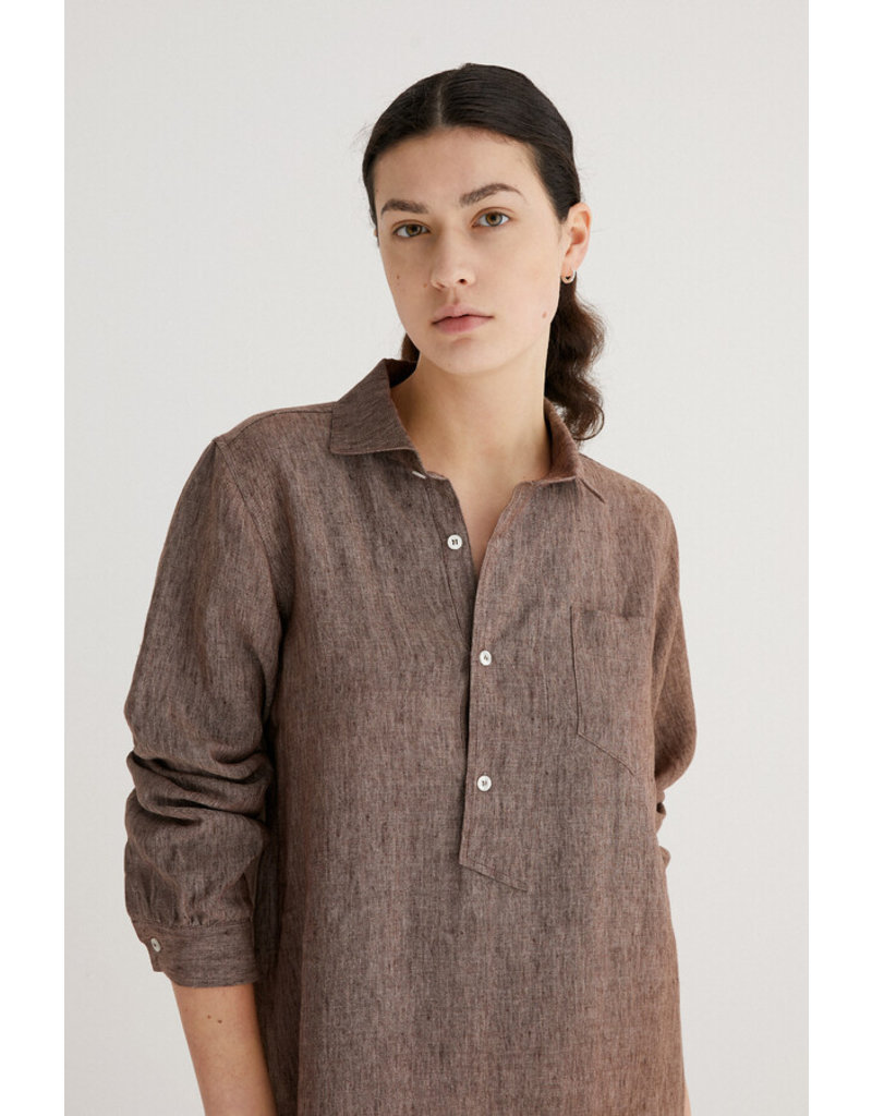 Zenggi Linen Polo Dress Hazel