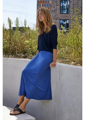 Travel Dress LUXE JERSEY SWAN SKIRT CORNFLOWER