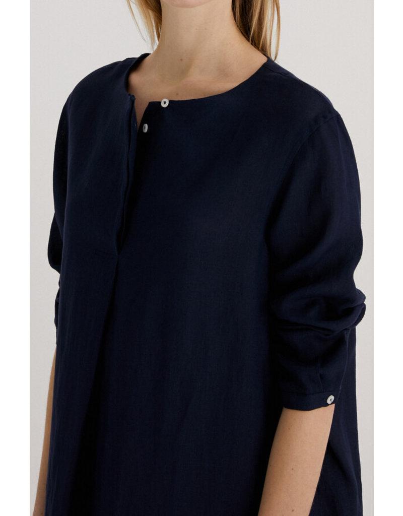 Zenggi Linen Tunic Dress Dark Blue