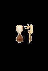 Atelier Louiza Earrings Roxy Silky Beige&Brown