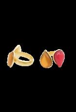 Atelier Louiza Ring Roxy Cognac&Fuchsia
