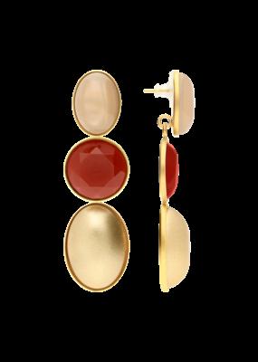 Atelier Louiza Oorbellen Bourla Mix Gold