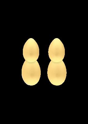 Atelier Louiza Earrings Virginie Classic Matt Gold