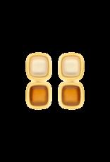 Atelier Louiza Earrings Camille Silky Beige & Cognac