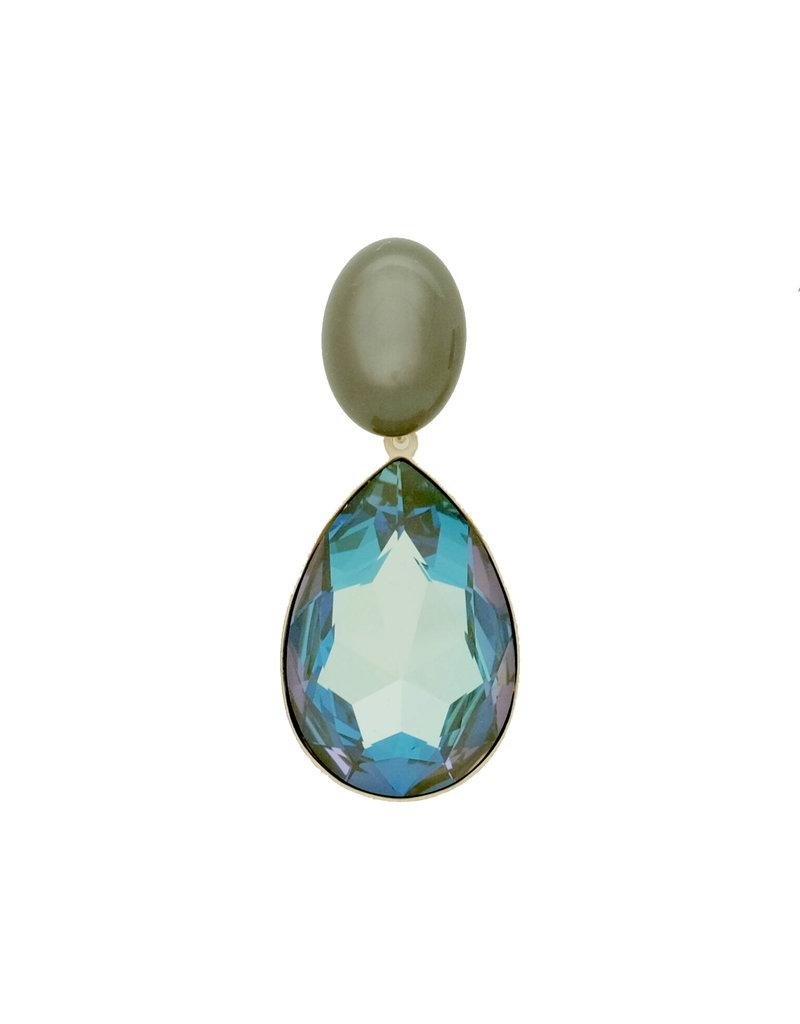 Atelier Louiza Earrings Marie Khaki