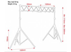 Showtec Lichtbrug (basic)  met ladder truss  3mtr