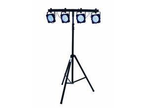 FOURPAR LED RGB DMX lichtset incl. case en statief