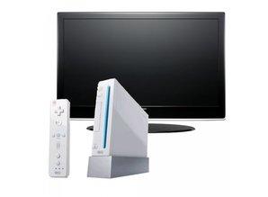 WII met LCD TV