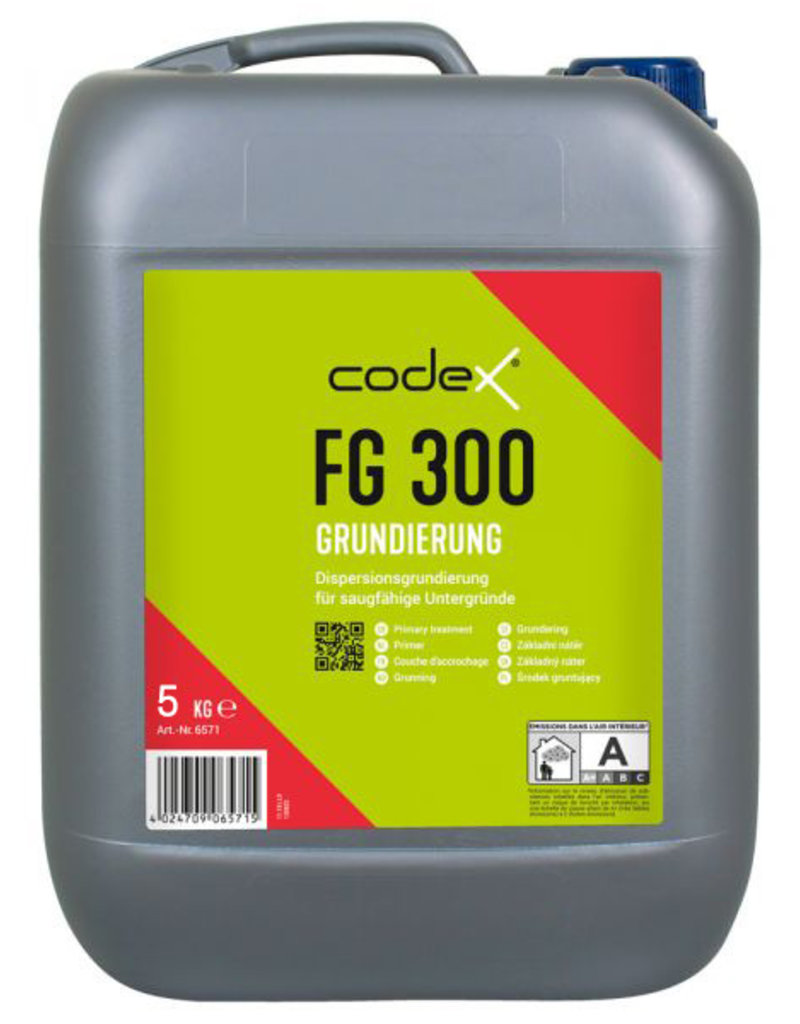 Codex Primer CodeX FG 300 5 L ou 10 L - Pour les substrats absorbants à base de ciment