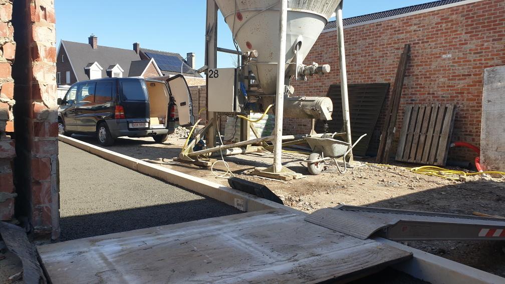 Chape drainagemortel silo