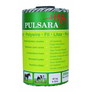 Elephant/Pulsara Poly wire white, 250m