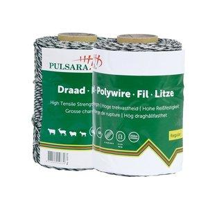 Elephant/Pulsara Duopack Polywire, vit - 2x250m