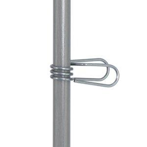 Klips i rustfrit stål til Glasfiberpæl ø12mm (50)