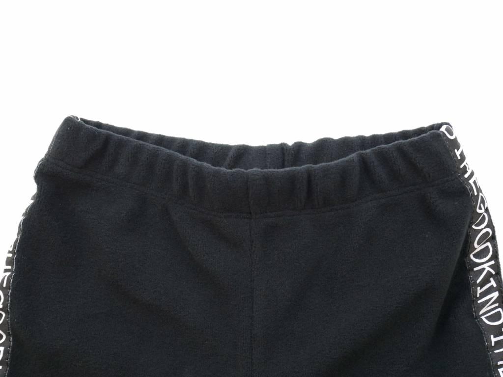 Schwarze Fleece Hose
