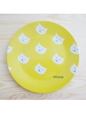 Kleiner Teller mit Katzenmuster
