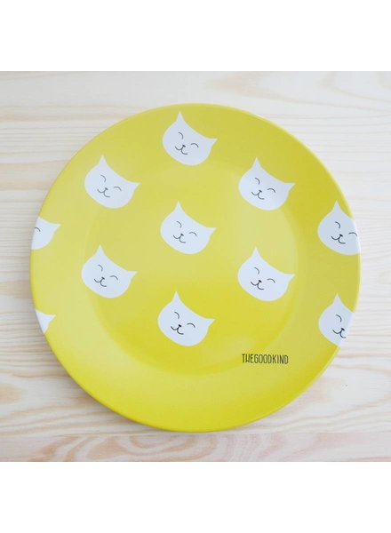 Small plate with cat print
