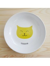 Deep Plate with cat print