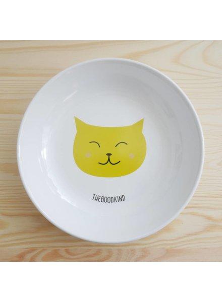 Tiefer Teller mit Katzenmotiv