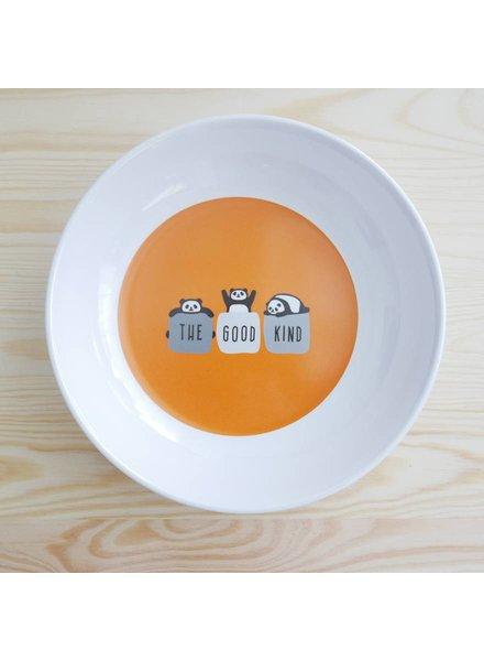 Tiefer Teller mit Pandamotiv