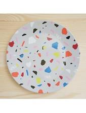 Terrazzo Plate Small Grey