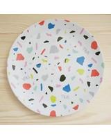 Terrazzo Plate White