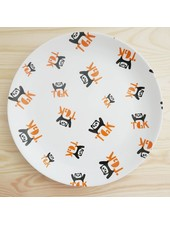 Large Plate with Panda Print