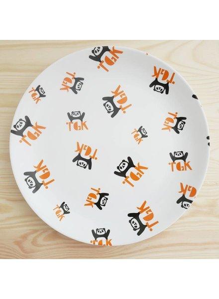 Großer Teller mit Pandamuster